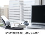 office desk | Shutterstock . vector #35792254