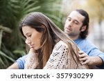 couple argue and are not happy... | Shutterstock . vector #357930299