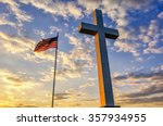 american flag and religious... | Shutterstock . vector #357934955
