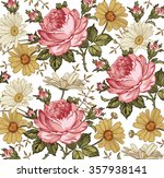 beautiful pink yellow white... | Shutterstock .eps vector #357938141