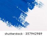 stroke blue paint brush color... | Shutterstock . vector #357942989