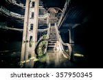 dramatic view of damaged... | Shutterstock . vector #357950345