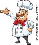 fat cartoon chef. vector clip... | Shutterstock .eps vector #357959954