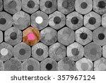 stacked pencils background... | Shutterstock . vector #357967124
