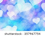 Blue Hearts Bokeh Background Of ...