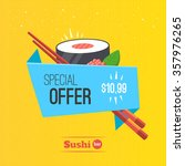 sushi origami banner special... | Shutterstock .eps vector #357976265