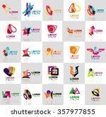 collection of colorful abstract ... | Shutterstock .eps vector #357977855