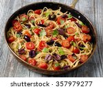 close up of rustic italian... | Shutterstock . vector #357979277