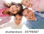 below view of family looking at ... | Shutterstock . vector #35798587