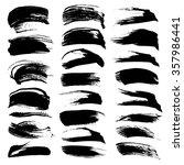 big set of black textured... | Shutterstock .eps vector #357986441