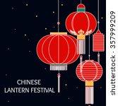 banner for chinese lantern... | Shutterstock .eps vector #357999209