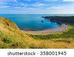 beautiful landscape of hill and ... | Shutterstock . vector #358001945