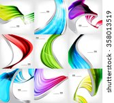 abstract lines background with... | Shutterstock .eps vector #358013519
