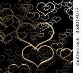 valentine heart gold h rendering | Shutterstock . vector #358014077