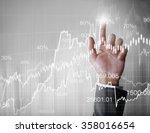 businessman with financial... | Shutterstock . vector #358016654