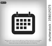 calendar icon | Shutterstock .eps vector #358019375