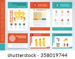 osteoporosis a4 book cover and... | Shutterstock .eps vector #358019744
