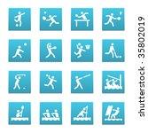 16 summer sport icons  set 2 of ... | Shutterstock .eps vector #35802019
