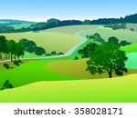rural landscape  panorama | Shutterstock . vector #358028171