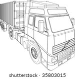container truck and trailer... | Shutterstock . vector #35803015