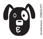 dog face emotion icon... | Shutterstock .eps vector #358031297