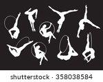 circus lyra aerial performer...   Shutterstock .eps vector #358038584