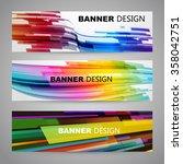 set of flyer  brochure design...   Shutterstock .eps vector #358042751