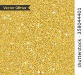 golden glitter pattern texture... | Shutterstock .eps vector #358044401