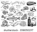 healthy food menu  avocado ...   Shutterstock .eps vector #358050197
