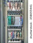 industrial electrical panel... | Shutterstock . vector #358055441