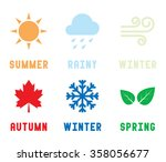 season icon vector illustration | Shutterstock .eps vector #358056677