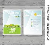 vector brochure flyer design... | Shutterstock .eps vector #358070111