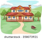 illustration of a pathway... | Shutterstock .eps vector #358073921