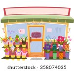 Illustration Of A Flower Shop...