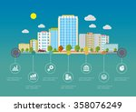 flat design vector info graphic ... | Shutterstock .eps vector #358076249