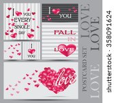 set of happy valentines day... | Shutterstock .eps vector #358091624