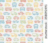 car seamless pattern | Shutterstock . vector #358092491