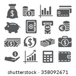 money icons | Shutterstock . vector #358092671