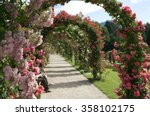 Stock photo rose garden beutig germany 358102175