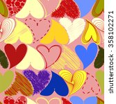 seamless colored pattern with... | Shutterstock .eps vector #358102271