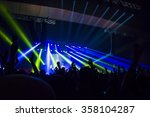 silhouettes of concert crowd  | Shutterstock . vector #358104287