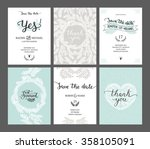 set of save the date cards ... | Shutterstock .eps vector #358105091