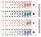 vector full set of playing... | Shutterstock .eps vector #358106291