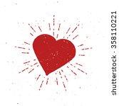Vintage Red Heart Illustration...