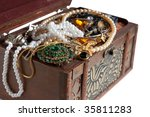 Treasure Chest With Valuables ...
