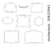 set of doodle frames with love... | Shutterstock .eps vector #358123961
