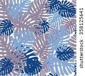 summer camouflage hawaiian... | Shutterstock .eps vector #358125641