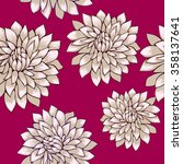 flowers chrysanthemum pattern... | Shutterstock .eps vector #358137641