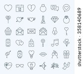 line valentine day icons set.... | Shutterstock .eps vector #358140689