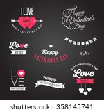 valentine's day icons ... | Shutterstock .eps vector #358145741